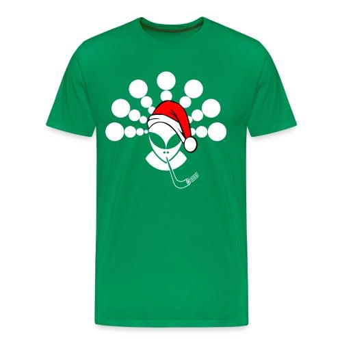 Alieno Natalizio Bianco - Christmas Alien White - Maglietta Premium da uomo