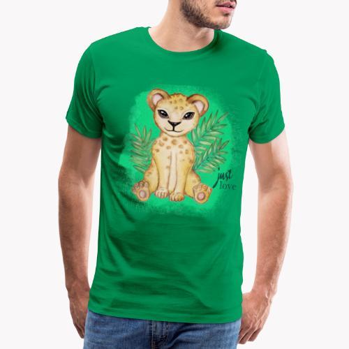 Baby Löwe Just Love - Männer Premium T-Shirt