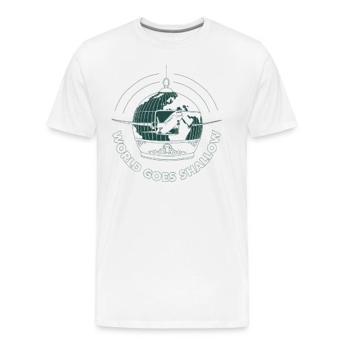 WorldGoesShallow print png - Herre premium T-shirt