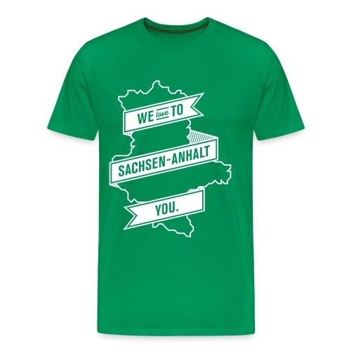 We love to Sachsen Anhalt you 2 - Männer Premium T-Shirt