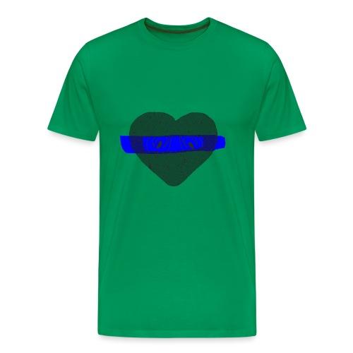 serduszko blu - Koszulka męska Premium