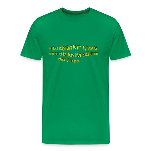 näytäntyhmältä png - Miesten premium t-paita