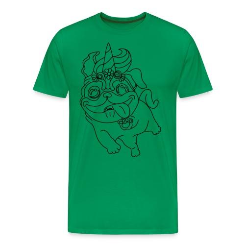 Pugicorn - Männer Premium T-Shirt