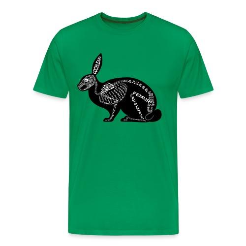 konijn skelet - Mannen Premium T-shirt