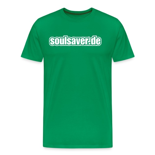 soulsaverlogo blackonly - Männer Premium T-Shirt