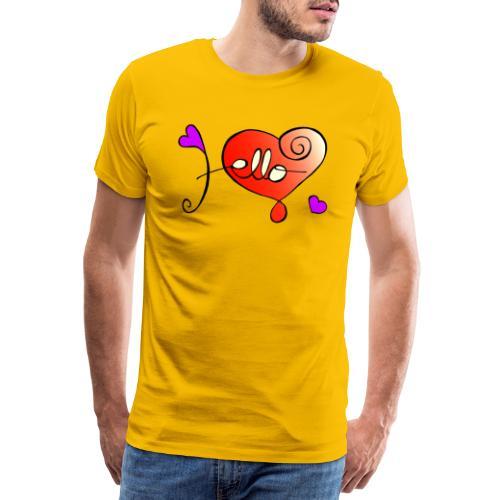 Hello Herz - Männer Premium T-Shirt