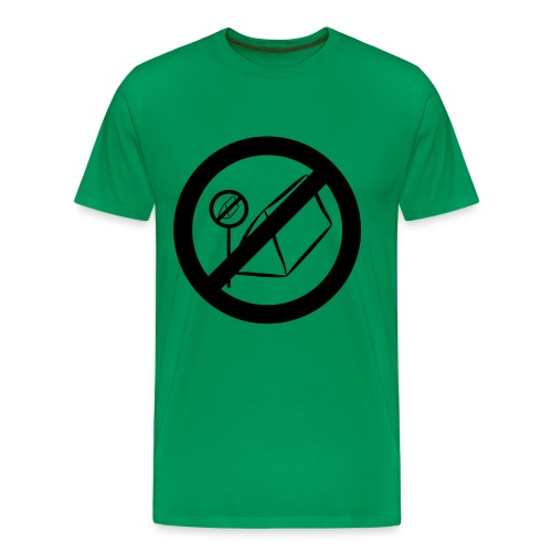 posting of camping forbidden signs prohi - Männer Premium T-Shirt