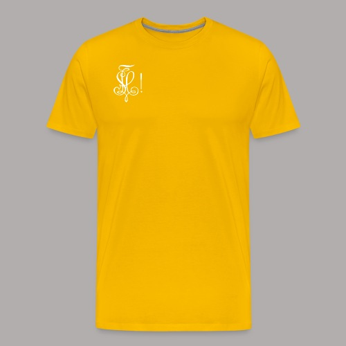 Zirkel, weiss (vorne) Zirkel, weiss (hinten) - Männer Premium T-Shirt