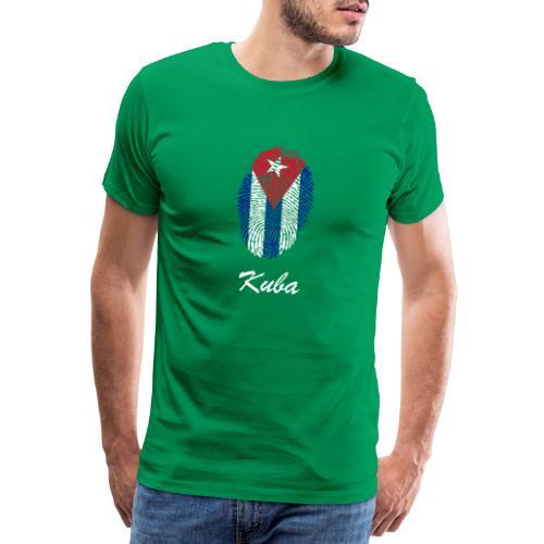 Kuba Fingerabdruck - Männer Premium T-Shirt