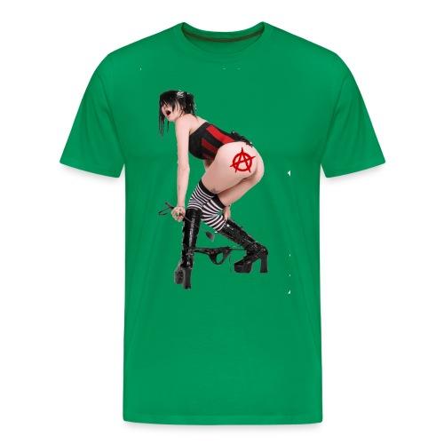 Nude Punk Rock Girl - Männer Premium T-Shirt