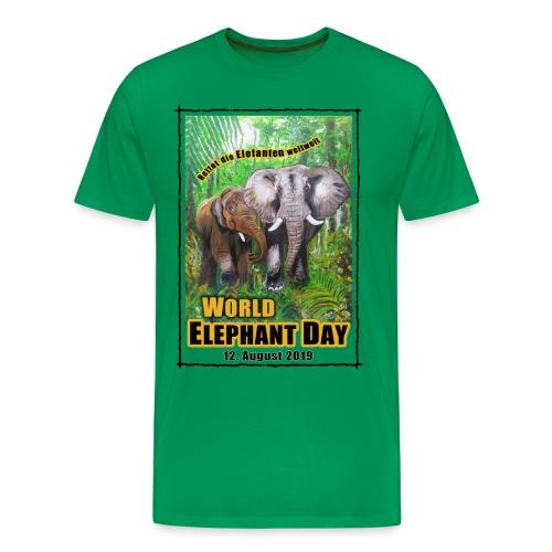 Welt-Elefanten-Tag 12. August 2019 - Männer Premium T-Shirt