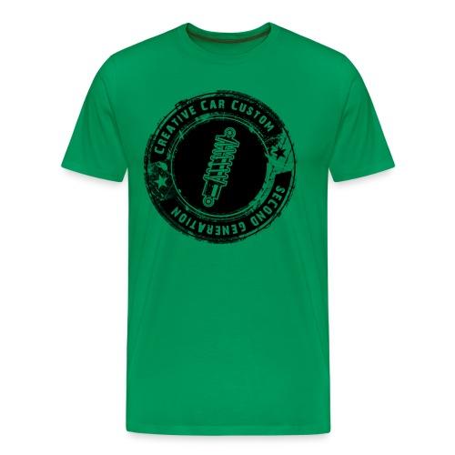 Stoßdämpfer Badge grunged schwarz - Männer Premium T-Shirt