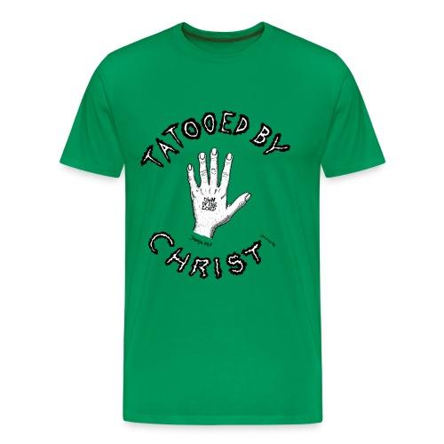 Tatooed by Christ - Männer Premium T-Shirt