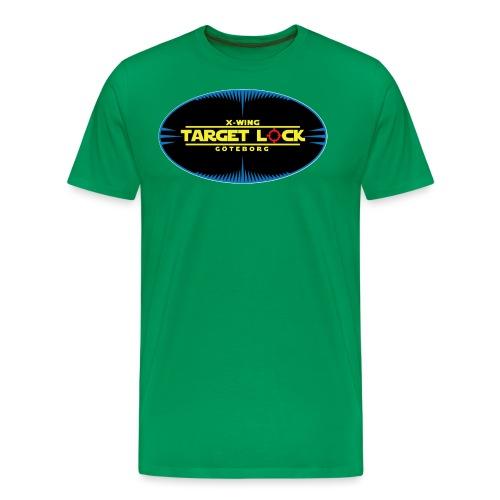 Target Lock Tryck på ljus bakgrund - Premium-T-shirt herr