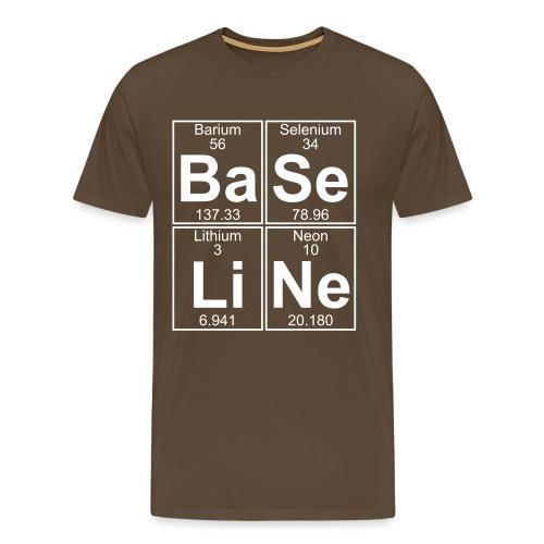 Ba-Se-Li-Ne (baseline) - Full - Men's Premium T-Shirt