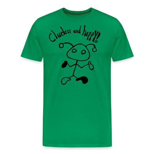 Clueless and happy! - Männer Premium T-Shirt