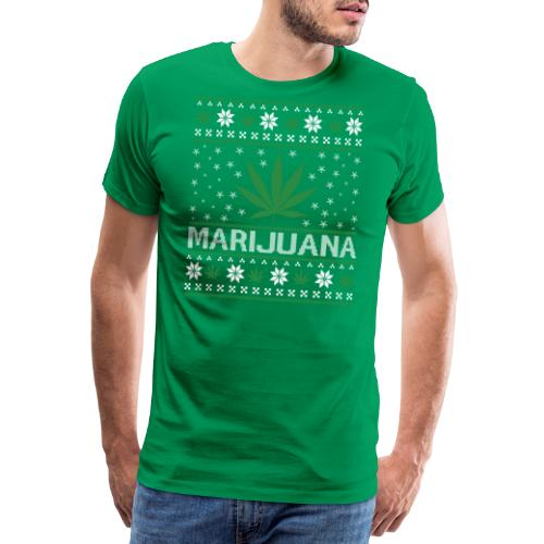 Ugly Christmas Marijuana - Männer Premium T-Shirt