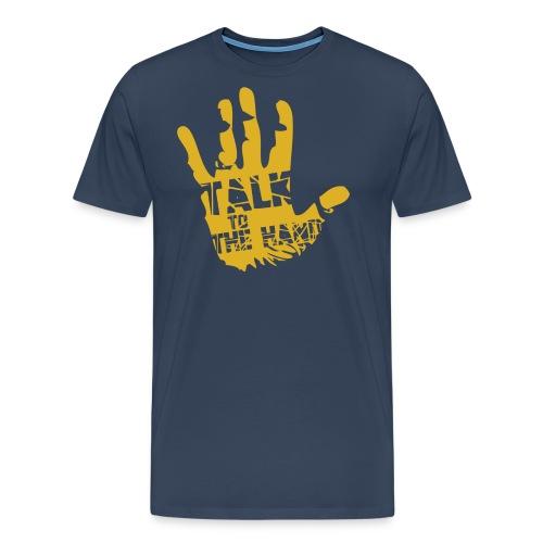 talk to the hand YELLOW - Koszulka męska Premium