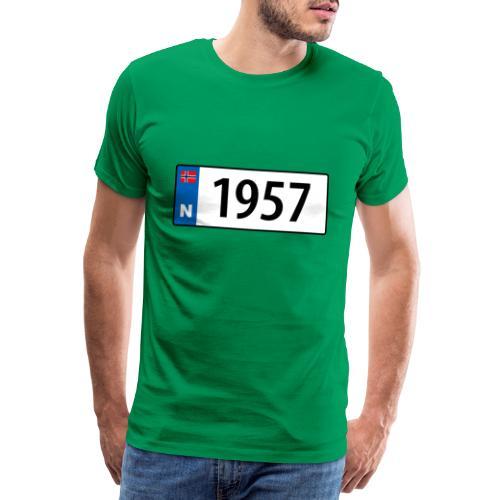 1957 - Premium T-skjorte for menn