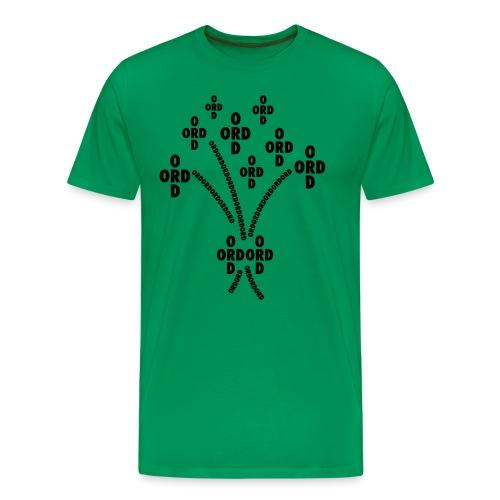ORDBUKETT - Premium-T-shirt herr