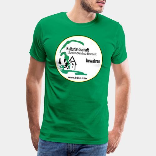 Kulturlandschaft mit B64n nein beidseitig Bedruckt - Männer Premium T-Shirt
