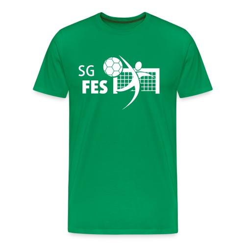 fes logo weiss druck - Männer Premium T-Shirt