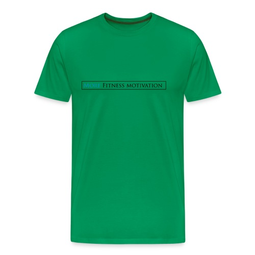 Fitness Motivatie shirt wit/groen - Men's Premium T-Shirt