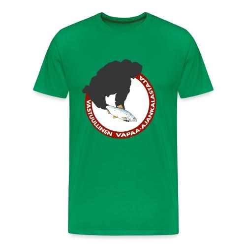 vastuullinen digitaalipainatus - Miesten premium t-paita