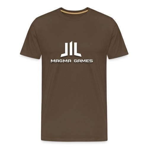 Magma Games t-shirt grijs - Mannen Premium T-shirt