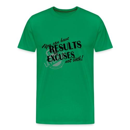 resultsorexcuses_noir - T-shirt Premium Homme