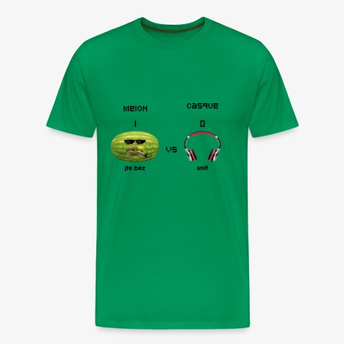 Melon vs Casque - T-shirt Premium Homme