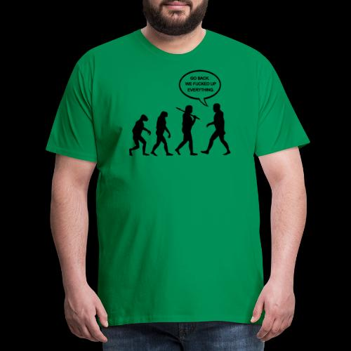 Go Back Evolution - Men's Premium T-Shirt