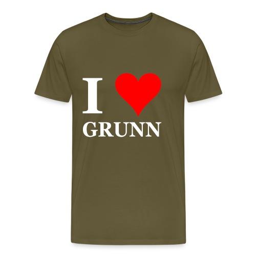 I love Grunn I love Groningen - Mannen Premium T-shirt