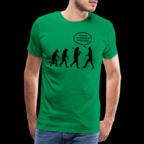 Go Back Evolution - Men's Premium T-Shirt
