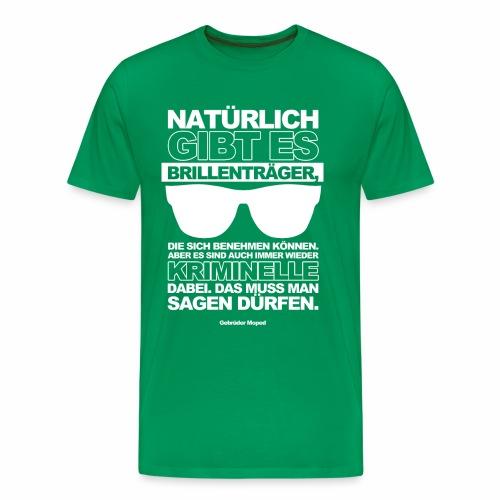Brillenträger - Männer Premium T-Shirt