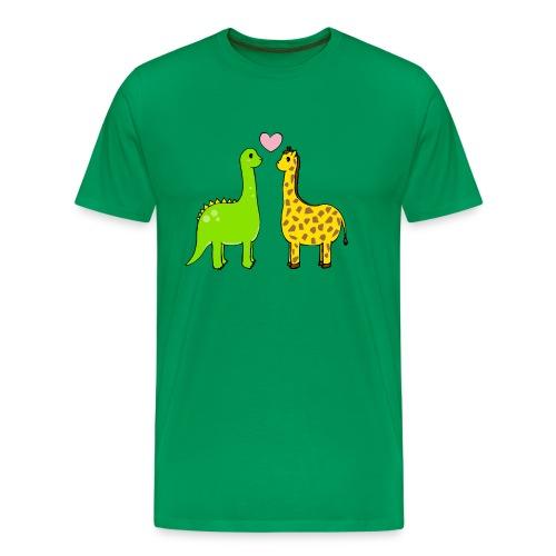 Dino Giraffe True - Premium-T-shirt herr