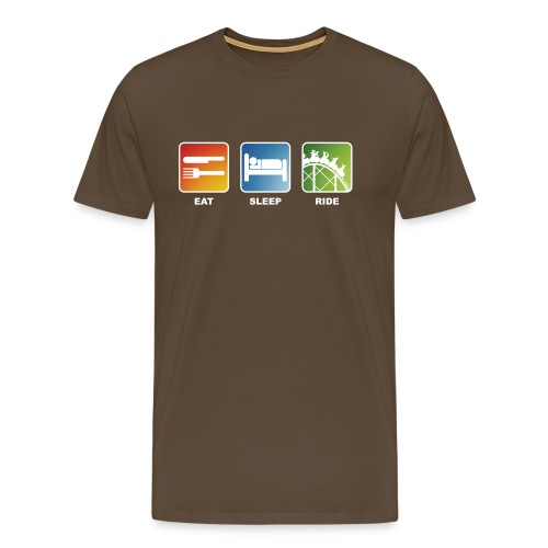Eat, Sleep, Ride! - T-Shirt Schwarz - Männer Premium T-Shirt