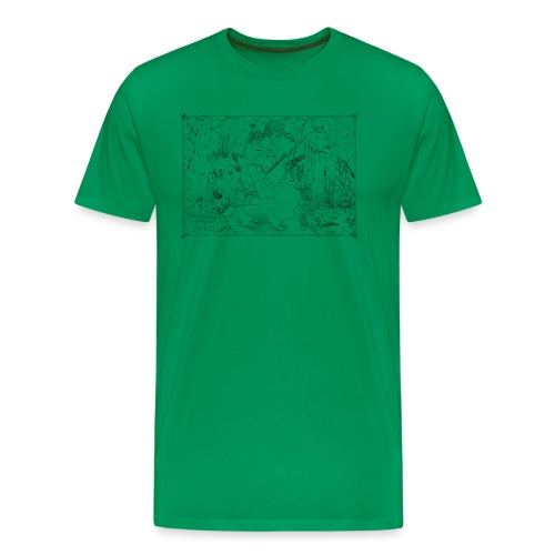 goat girl jungle explorer - Men's Premium T-Shirt