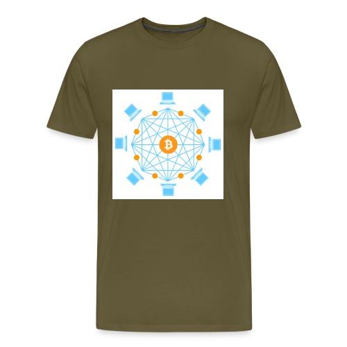Blockchain - Miesten premium t-paita