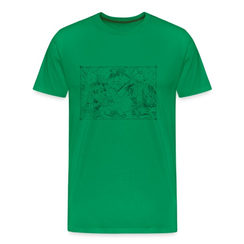 goat girl jungle explorer - Men's Premium T-Shirt