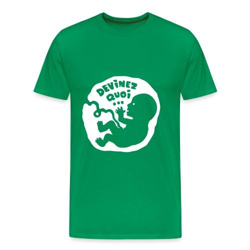 Devinez quoi… (enceinte) - T-shirt Premium Homme
