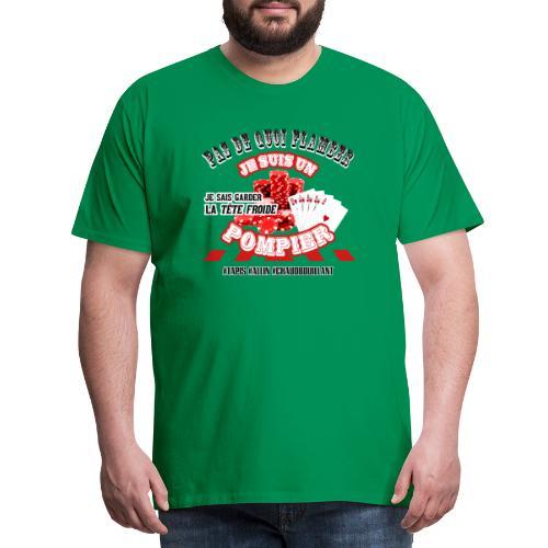 Les POMPIERS fan de POKER ! - T-shirt Premium Homme
