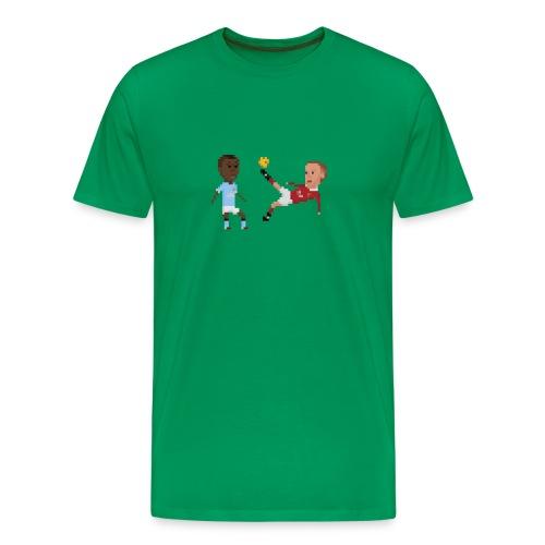 Bicycle kick in Manchester - Men's Premium T-Shirt