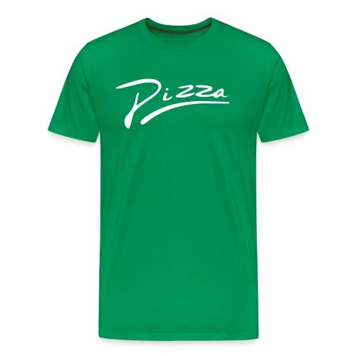 Pizza Schriftzug - Männer Premium T-Shirt