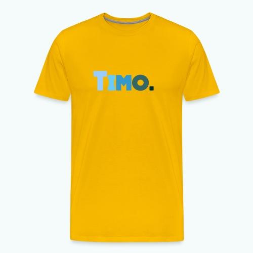 Timo in blauwe tinten - Mannen Premium T-shirt