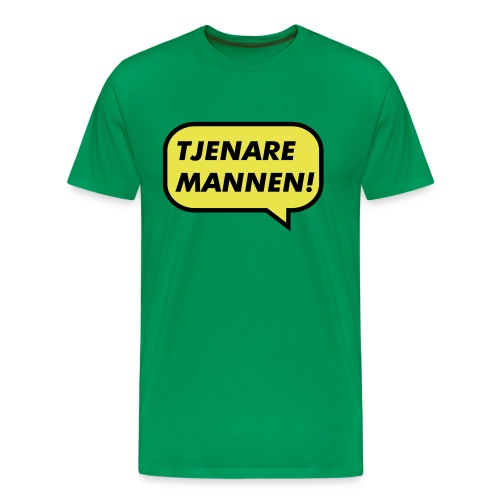 Tjenare Mannen - Premium-T-shirt herr