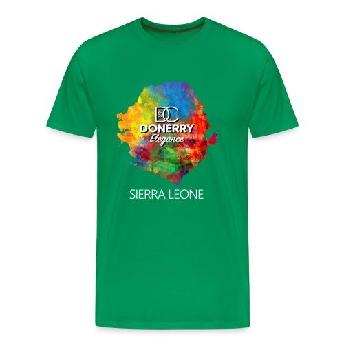 Sierra Leone Colourful Map Dark - Men's Premium T-Shirt