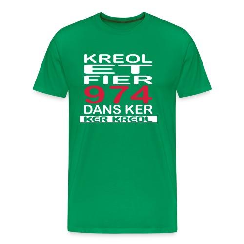 974 ker kreol - Kreole et Fier - T-shirt Premium Homme
