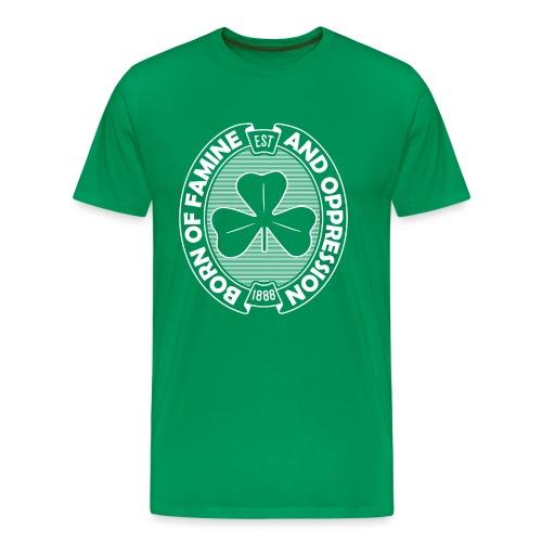 Famine And Oppression White - Men's Premium T-Shirt