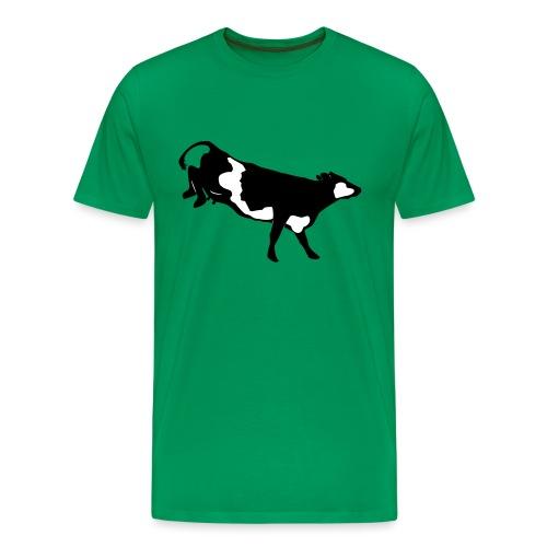 Landende koe vector - Mannen Premium T-shirt